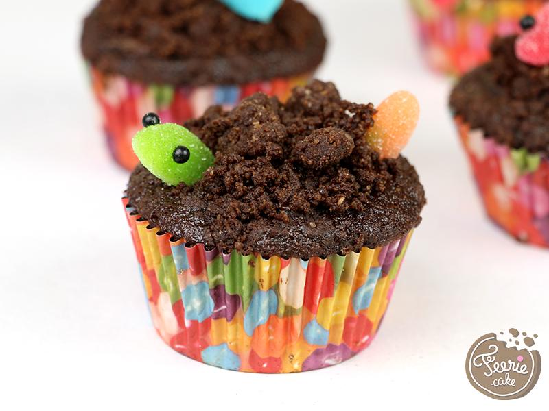 Cupcakes vers de terre 2