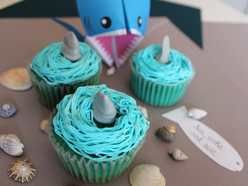 cupcakes requin Elodie 1