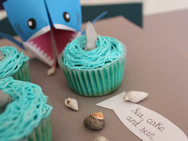 cupcakes requin Elodie 2