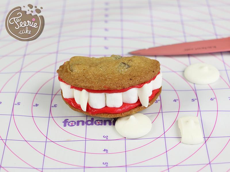 pas a pas cookies dentier dracula 5