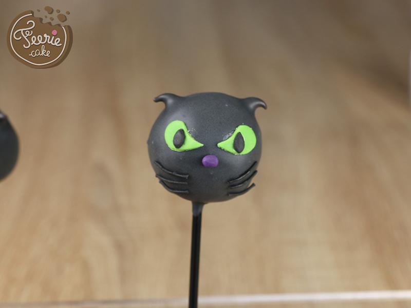 tuto cake pops chat noir 8
