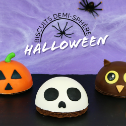 Biscuit demi-sphère Halloween 1