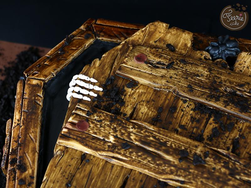 Gâteau 3D cercueil 2