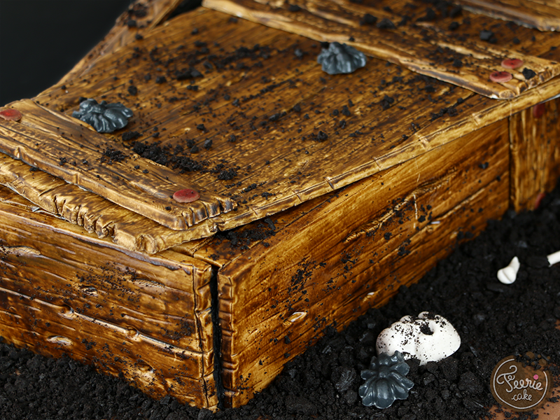 Gâteau 3D cercueil 3
