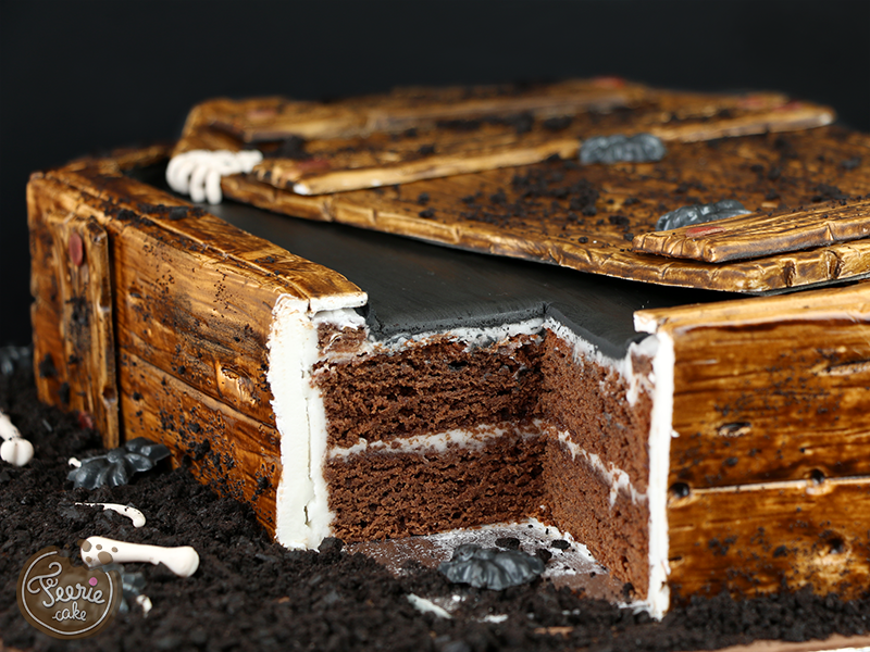 Gâteau 3D cercueil 4