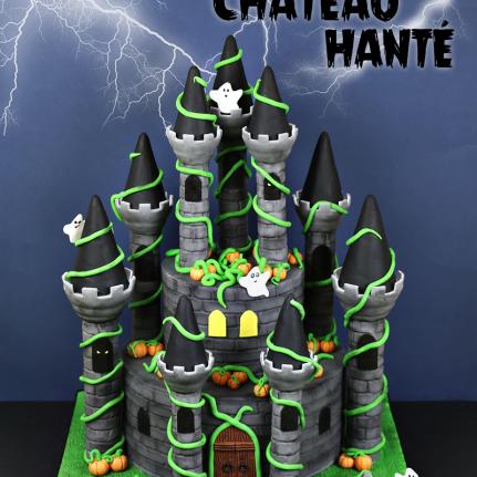 Gâteau château hanté 1