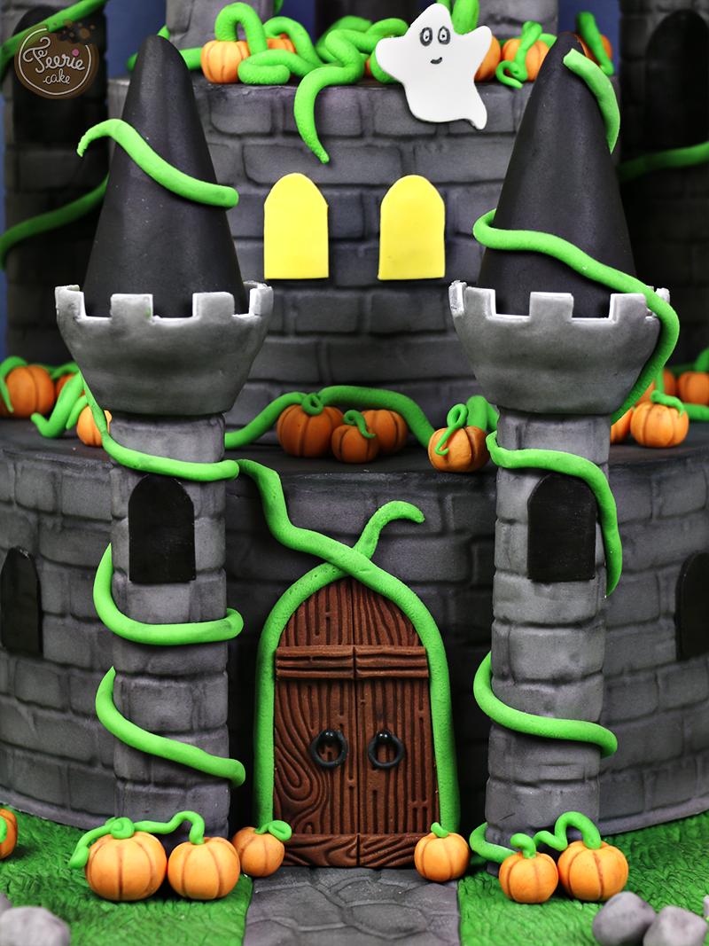 Gâteau château hanté 2