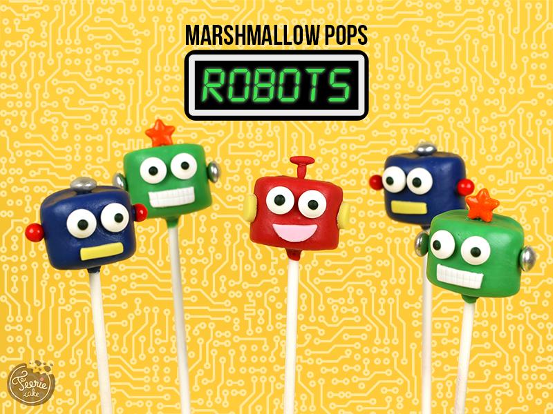 Marshmallow pops robots 1