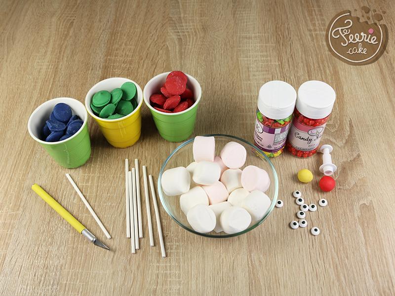 Tuto marshmallow pops robots 1