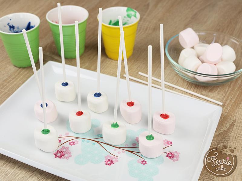 Tuto marshmallow pops robots 2