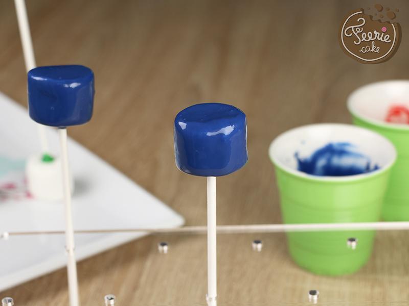Tuto marshmallow pops robots 3