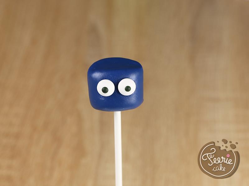 Tuto marshmallow pops robots 4