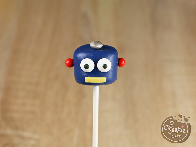 Tuto marshmallow pops robots 5