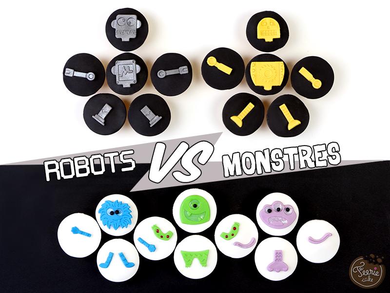 mini cupcakes robots vs monstres 1