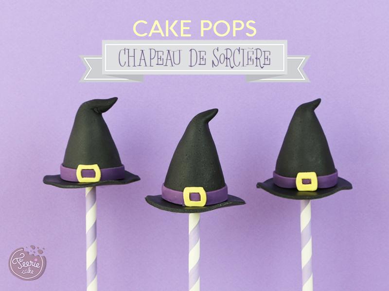 cake pops sorcières chapeau 1