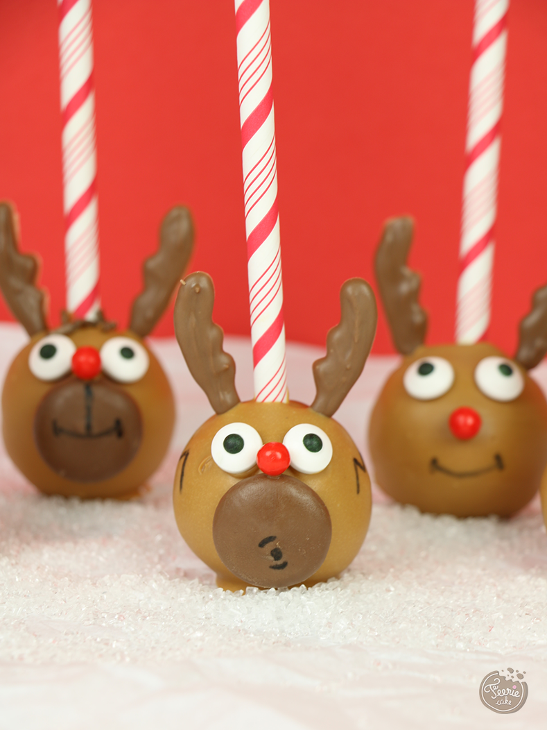 Rudolph le renne cake pops 2