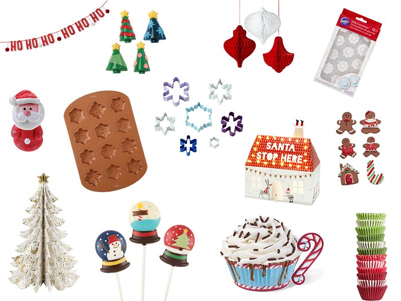 Décorations de Noël, table, pâtisserie...