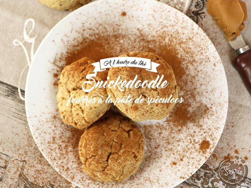 Snickerdoodles fourrés à la pâte de speculoos