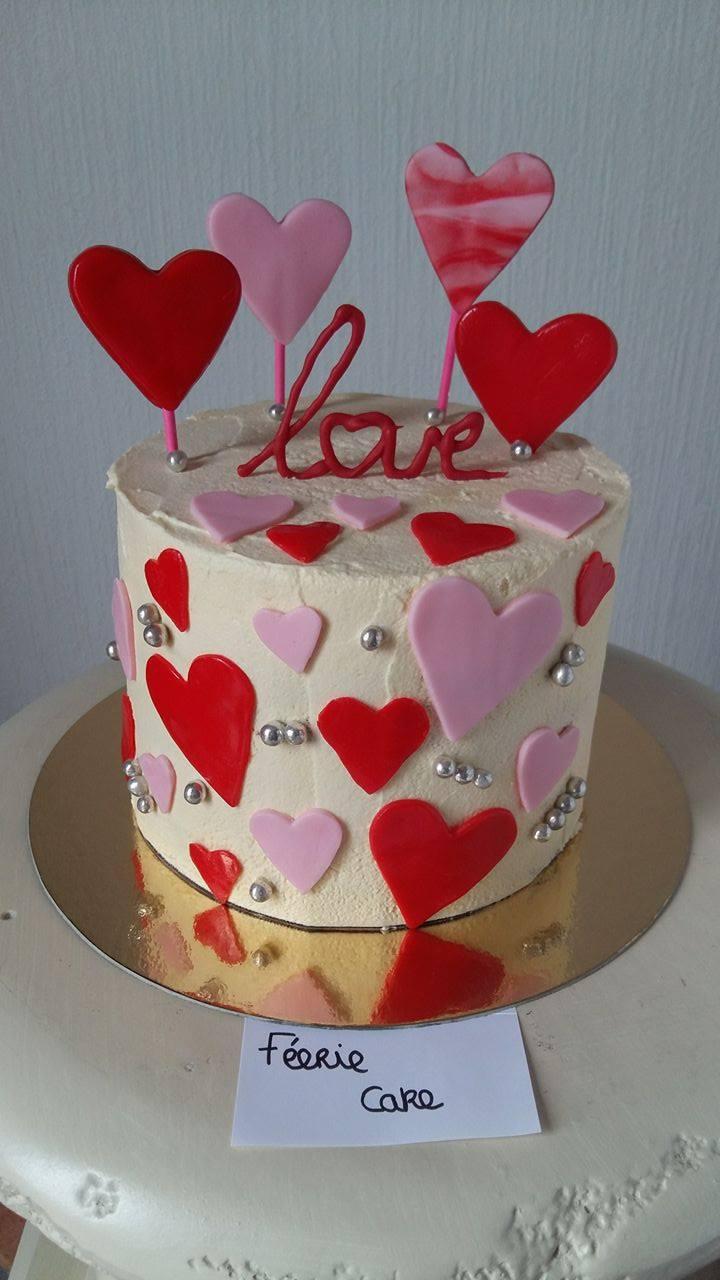 gâteau à étages st valentin - Féerie Cake, le blog