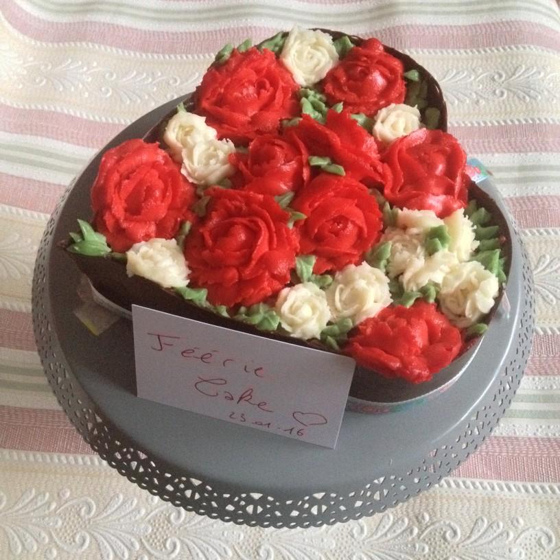 gâteau roses 1