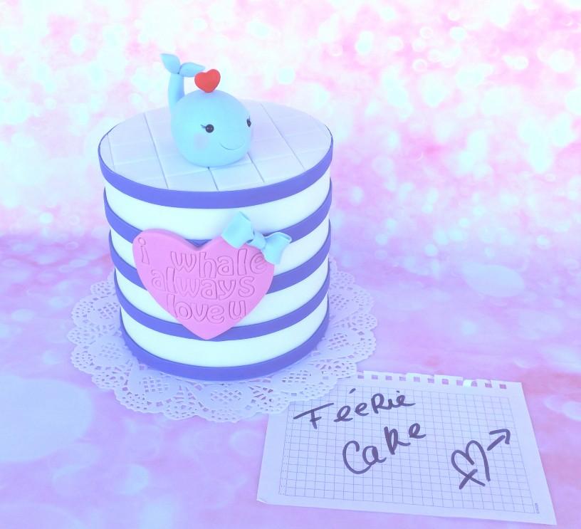 Concours Féerie Cake Saint Valentin 2016 - Le layer cake à rayures de Katia