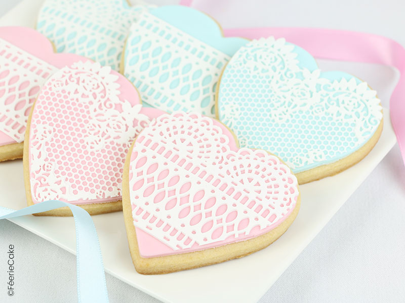 Biscuits dentelle Saint-Valentin