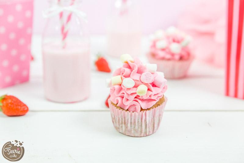 cupcakes rose fraise girly