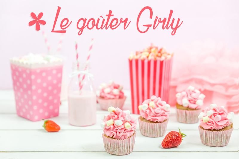 cupcakes rose fraise girly gouter