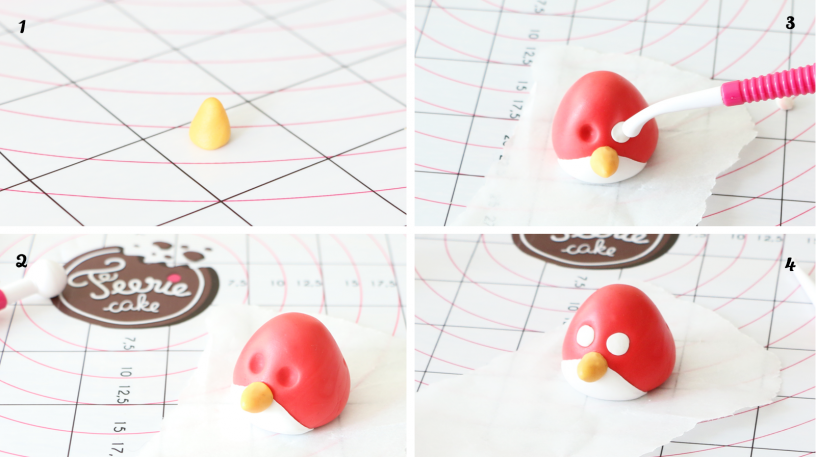 red angry birds modelage pate à sucre by féerie cake 1