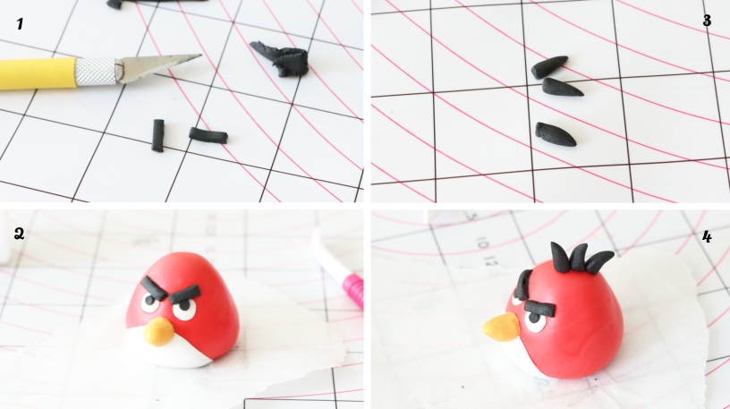 red angry birds modelage pate à sucre by féerie cake