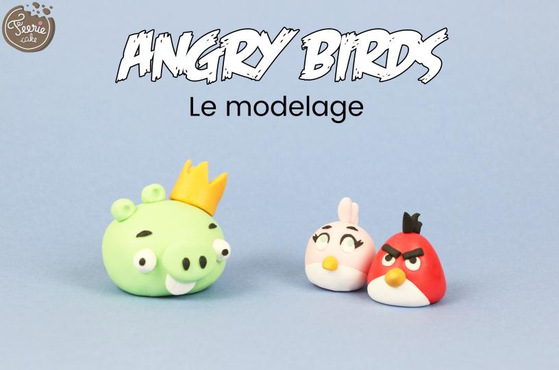 Angry Birds : le modelage en pâte à sucre