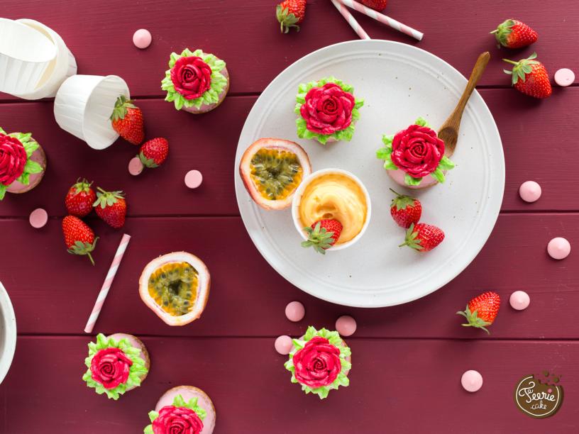 cup choux fraise fruit passion