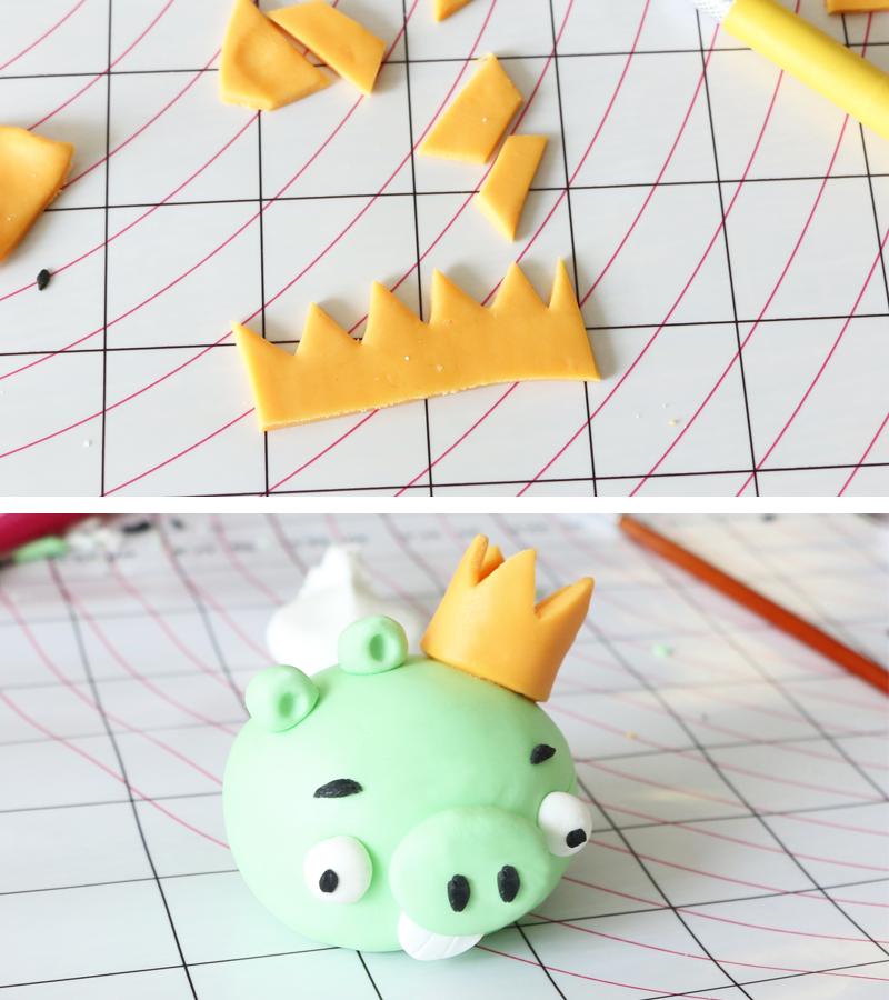 roi cochon birds modelage pate à sucre