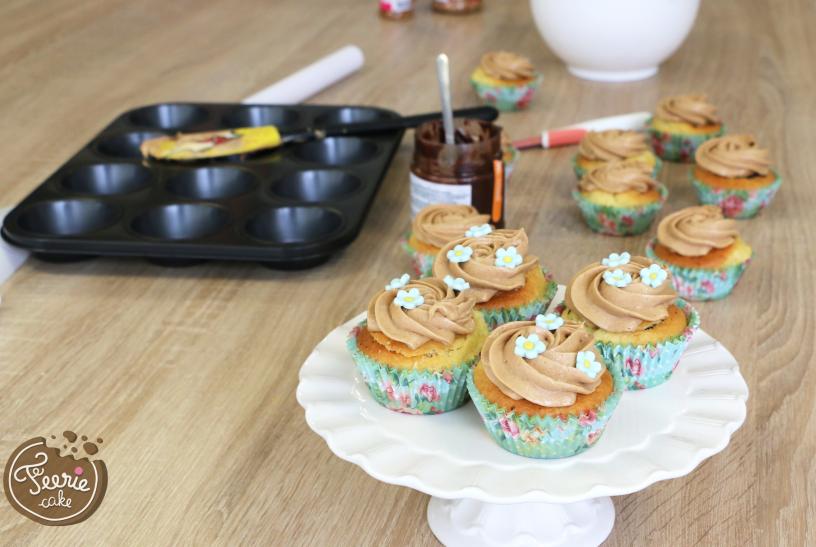 cupcakes praliné fleurs