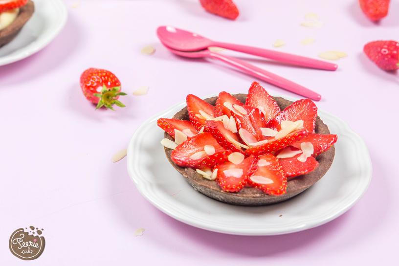 tartelettes aux fraises chocolat