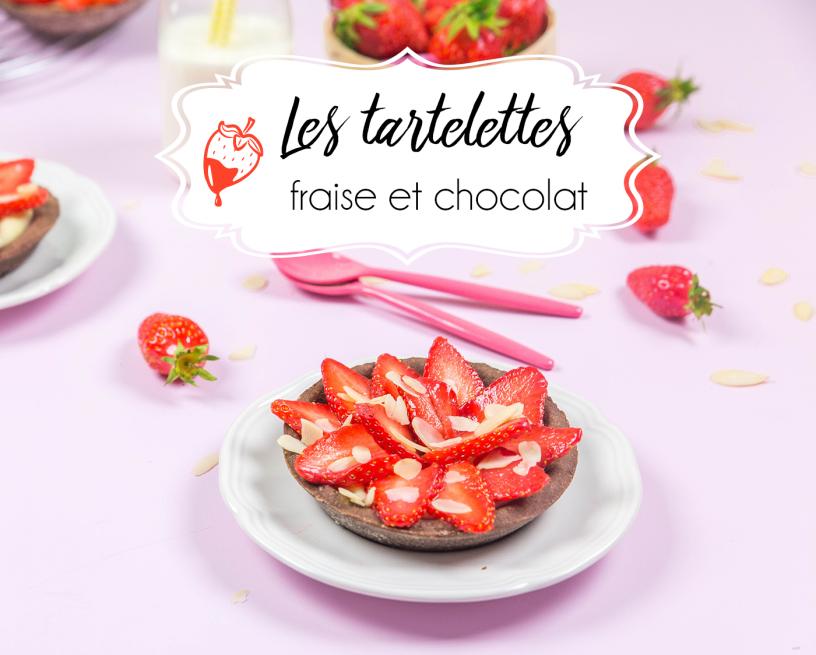 tartelettes aux fraises choco titre