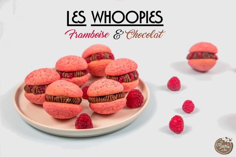 Les Whoopies Framboise & chocolat, un délice !