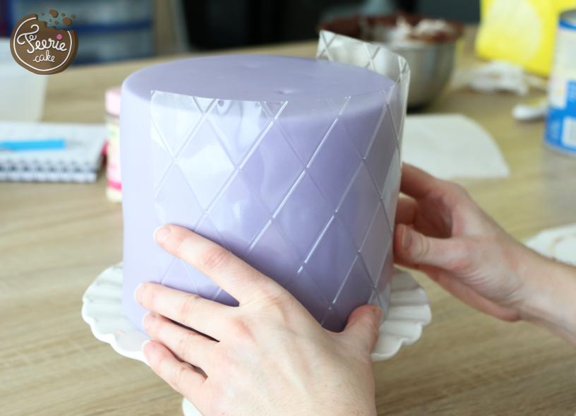 gâteau de princesse feuille de texture