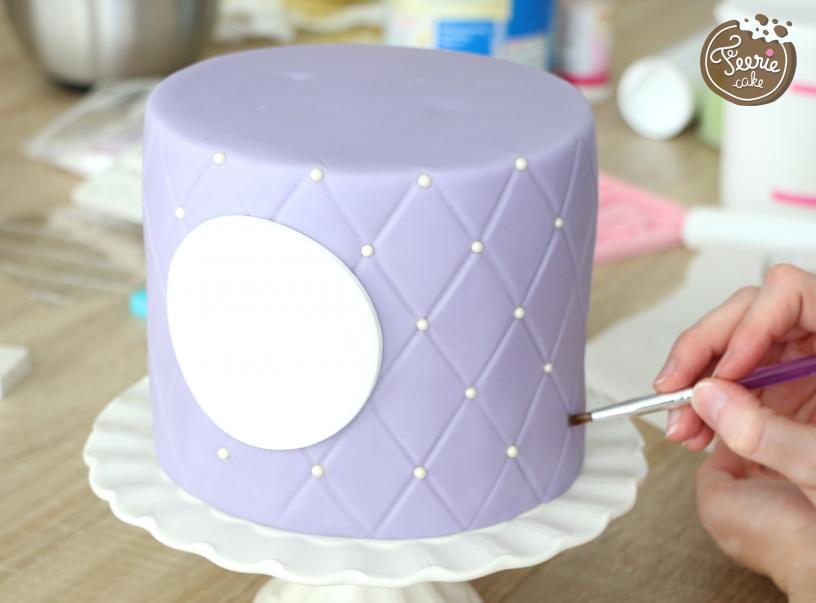 gâteau de princesse perles