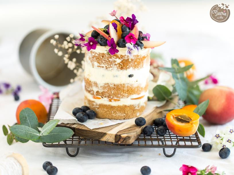 naked cake abricot