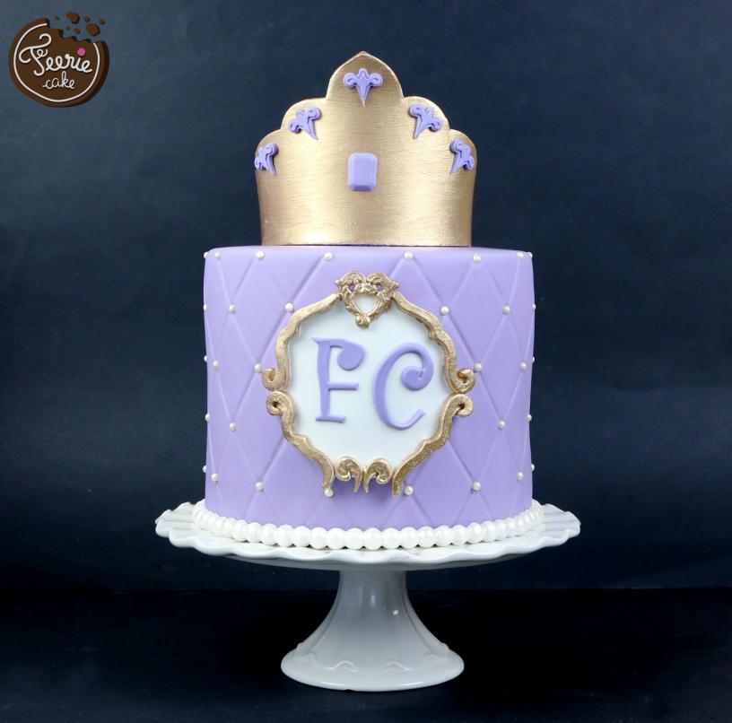 gâteau de princesse lilas