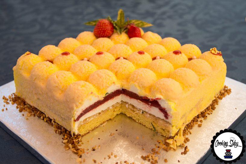 entremet citron fraise basilic