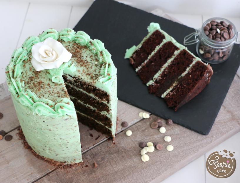 Layer cake chocolat menthe 5