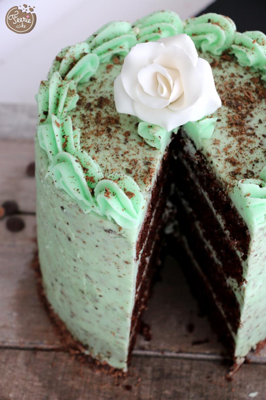 Layer cake chocolat menthe 2