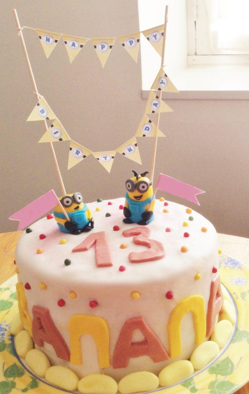 rainbow cake Minions