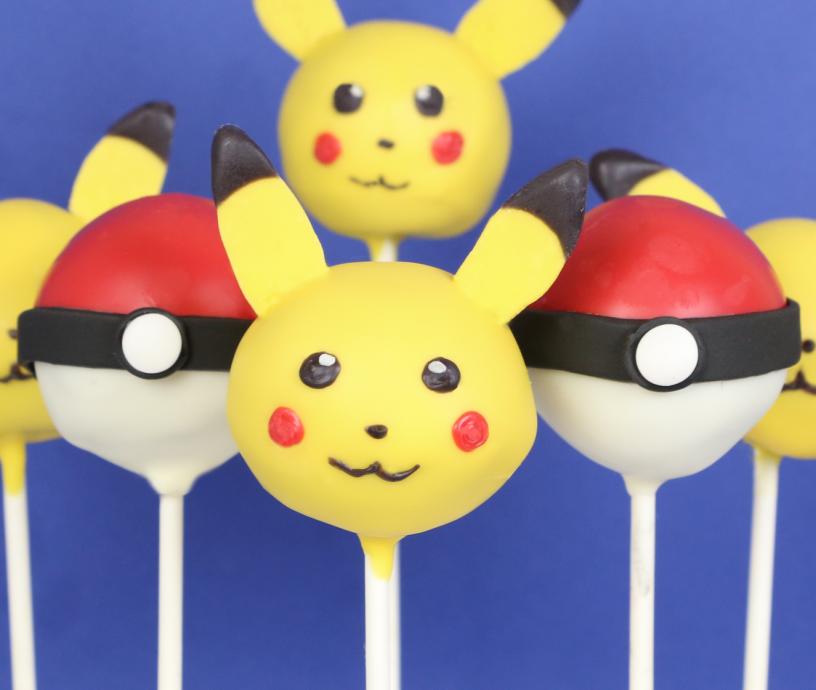 cake pops pokémon pikachu Nahaufnahme