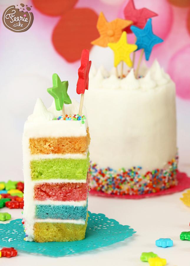 rainbow cake recette