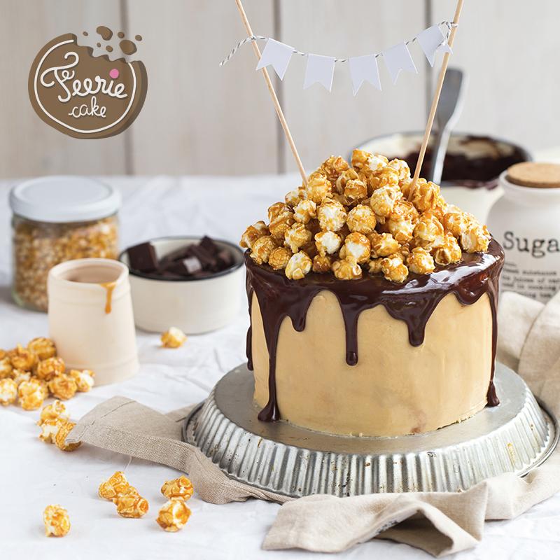 Layer cake chocolat caramel pop corn 2