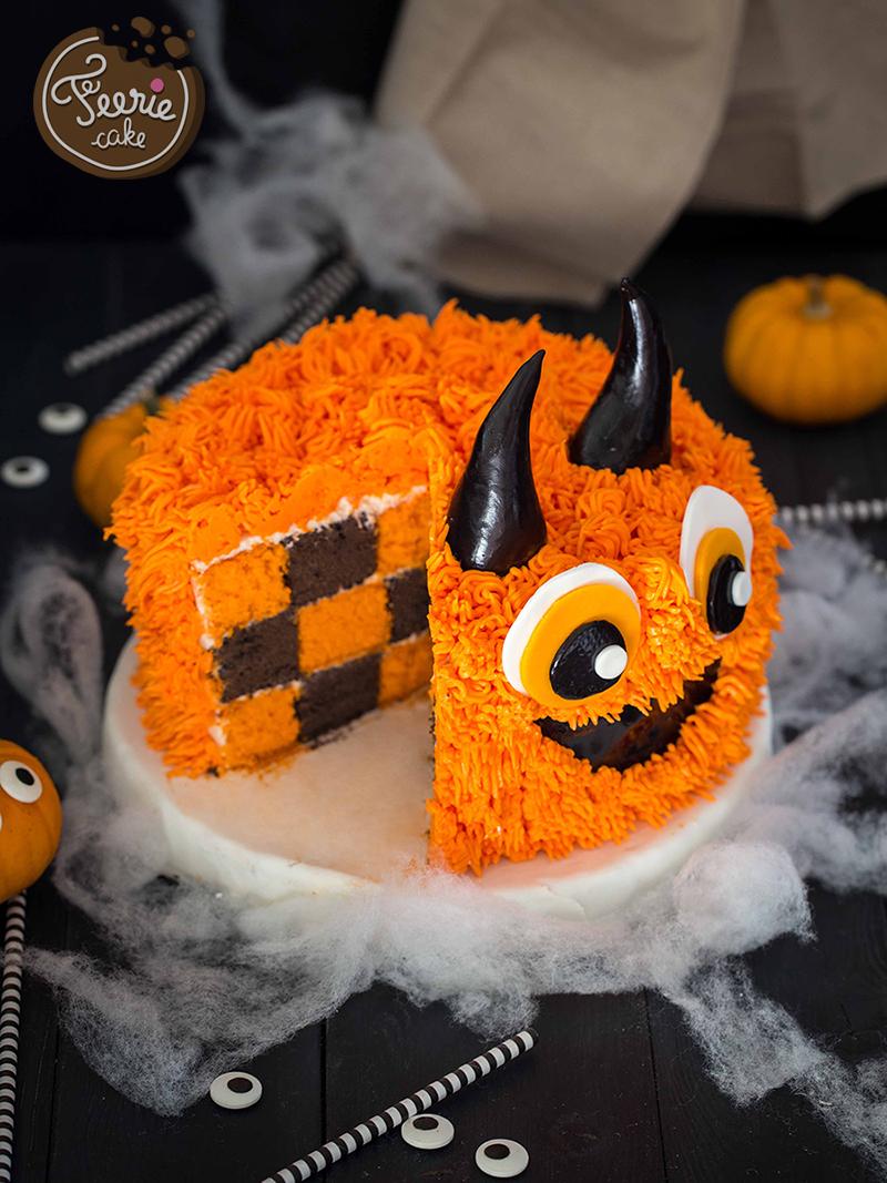 gâteau damier monstre