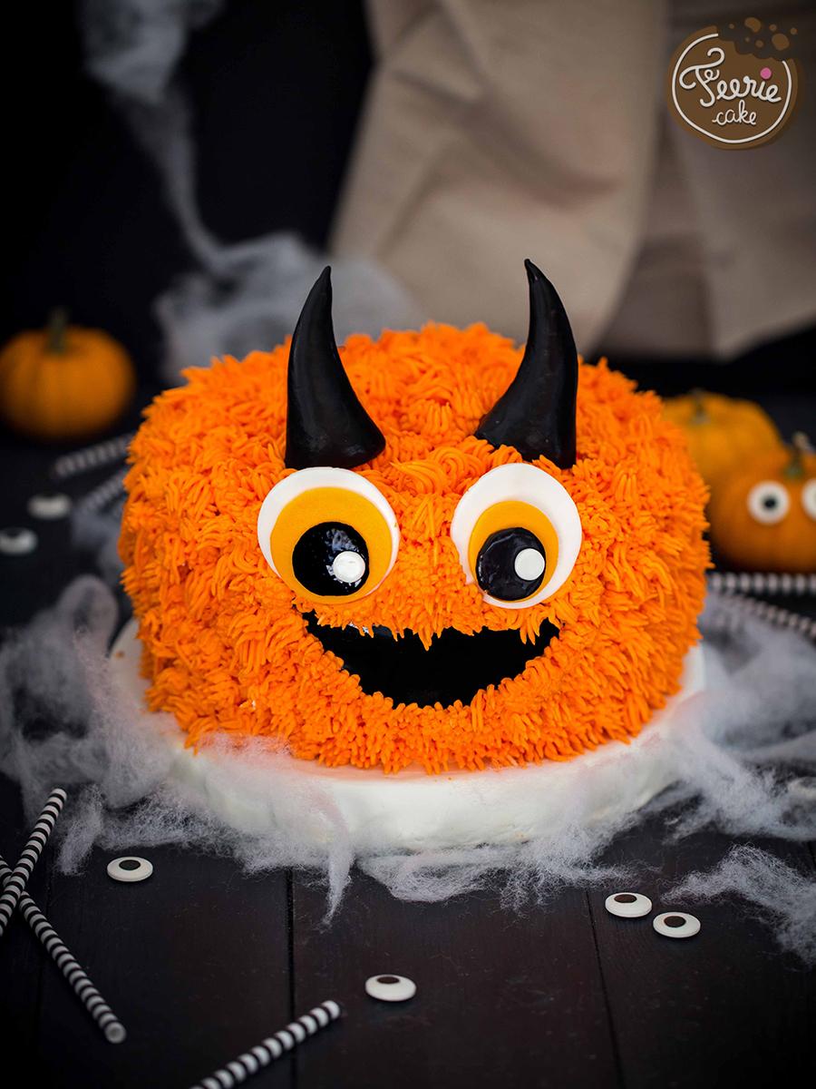 gâteau damier monstre poilu